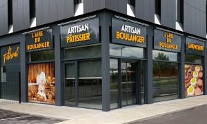 Fabrication et pose d'une enseigne de boulangerie dans le Rhône
